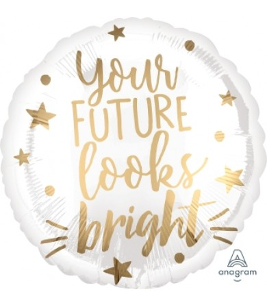 37640 Your Future Looks Bright White & Gold