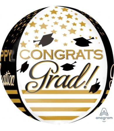 32403 Congrats Grad Gold & Black
