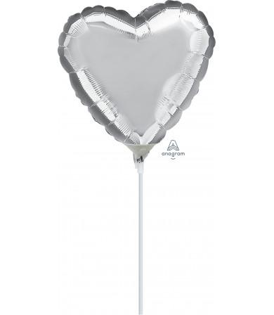 """16305 Silver Heart (4"""")"""