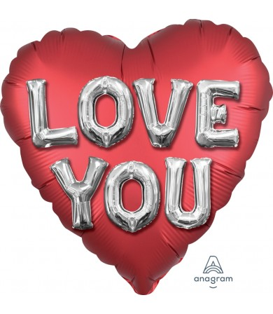 "38792 Satin Love You Balloon Letters (28"")"
