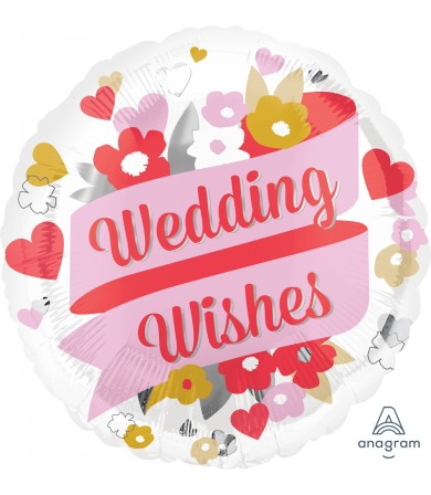 "35185 Wedding Wishes Floral (18"")"