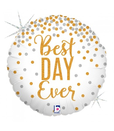 """36589P Glittering Best Day Ever (18"""")"""
