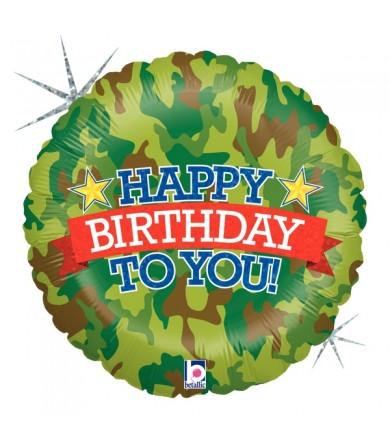 "86919P Camo Birthday (18"")"