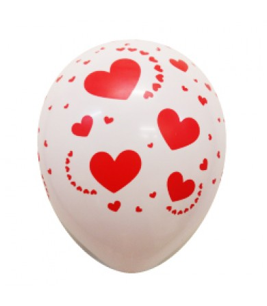 """Etched Hearts - 12"""" Fashion Balloon AO Print"""