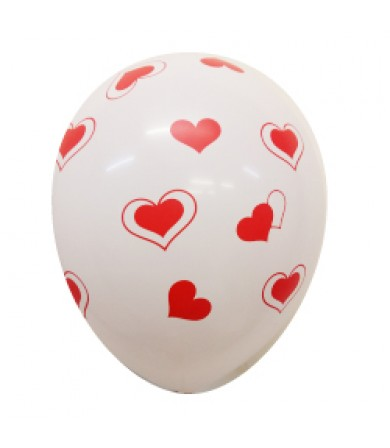 "Double Hearts - 12"" Fashion Balloon AO Print"