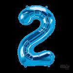 """34"""" Number """"2"""" Blue"""