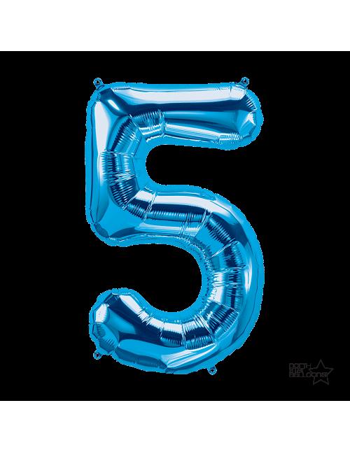 """34"""" Number """"5"""" Blue"""