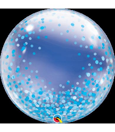 """57789 Blue Confetti Dots [Bubbles Balloon] (24"""")"""