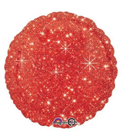 """32652 Faux Sparkle Red (18"""")"""