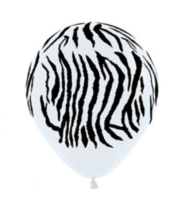 "Sempertex 12"" Fashion Solid White 005 - AO Zebra"