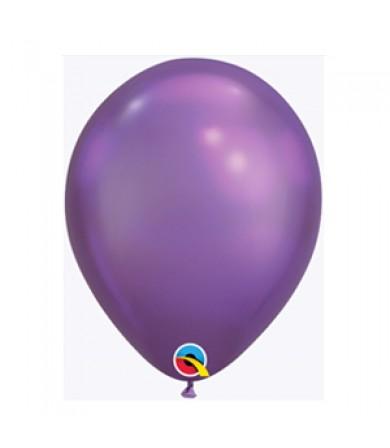 "Qualatex 11"" Round Balloon Chrome Purple ( 100 )"